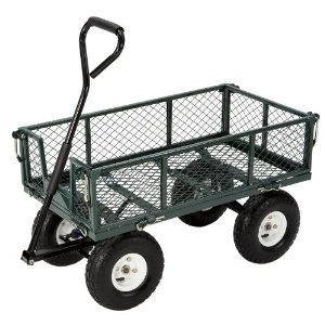 green steel utility cart from amazon